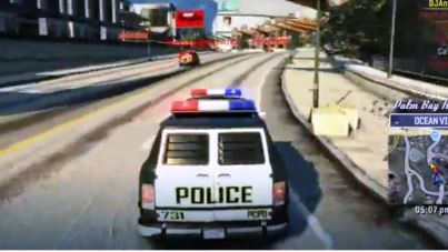 Burnout Paradise Cops and Robbers Screenshot Gameplay